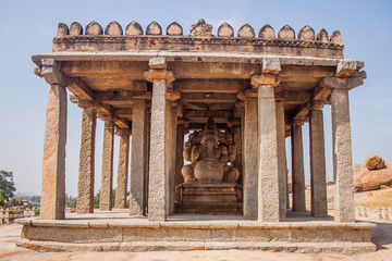 Temple of Ganesh at Hampi, India