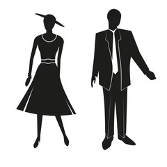 sign black silhouettes of a man and woman