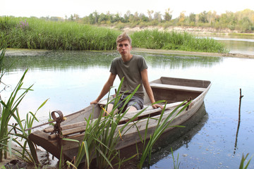 man in the boat