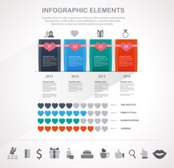 Valentines day infographics