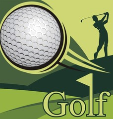 Golf poster competition, golf image.
