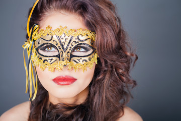 Sexy woman with carnival mask