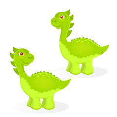 Cartoon dinosaur characters