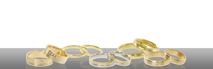 Group of wedding rings