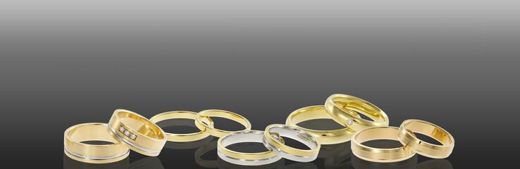 Group of wedding rings