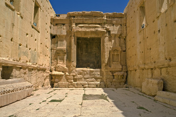 Syria. Palmyra (Tadmor). The sanctuary of Bel - inside the cella. This site is on UNESCO World Heritage List
