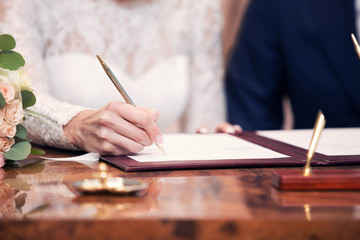 newlyweds put a list in the marriage certficate