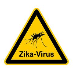 wso236 WarnSchildOrange - german symbol - Mücke mit Zika-Virus - g4190