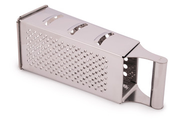 One kitchen metal grater (Clipping path)