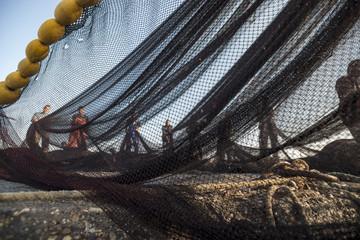 Fishermen on the fishing boat