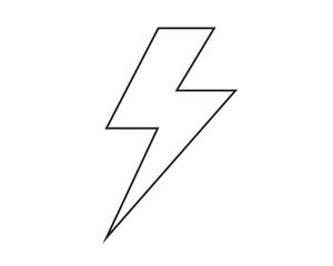 Line icon storm. Vector illustration.