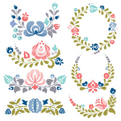 Floral ornaments and frames