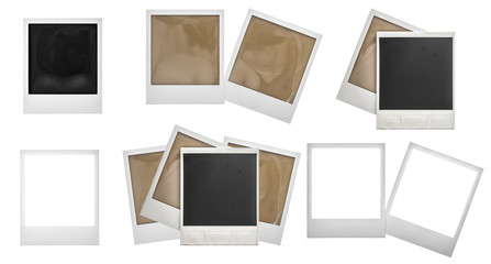Photo frames polaroid isolated. Photo scrapbook