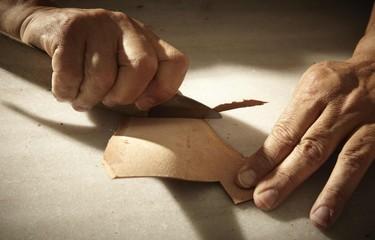 Man Working in His Workshop