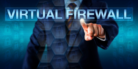 Administrator Touching VIRTUAL FIREWALL Onscreen