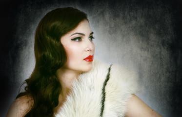 vintage look lady