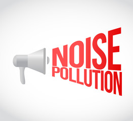 noise pollution megaphone message at loud. concept