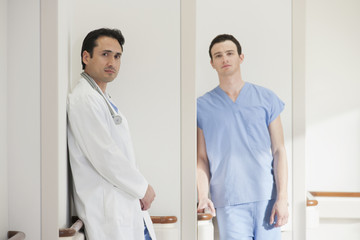Doctor and nurse standing in hospital