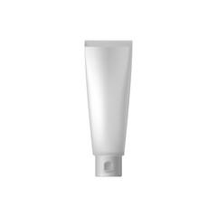 White blank cosmetic tube