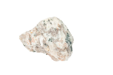 Fragment of granite on a white background