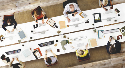 Business Team Meeting Connection Digital Technology Concept