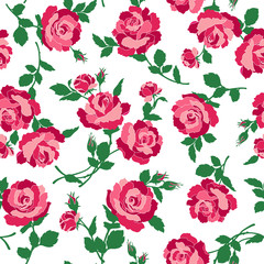 バラのイラストパターン