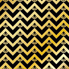 Abstract Golden Chevron Pattern Background