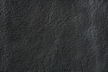 Black leather texture with uneven surface