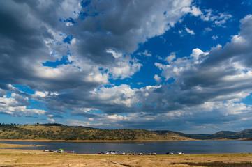 Australian landscape with dramatic sky