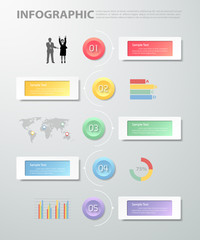 Design clean template infographic. can be used for workflow, layout, diagram