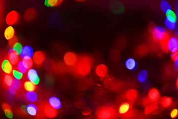 Colourful Christmas lights, close up