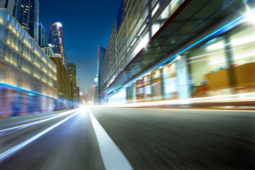 city street motion blur background