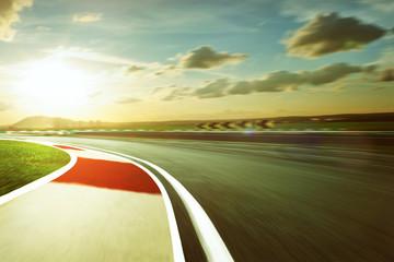 Wall Mural - Motion blurred racetrack,vintage mood mood