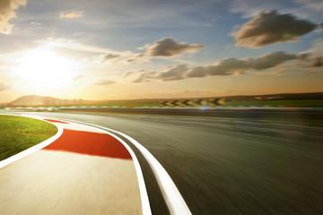 Wall Mural - Motion blurred racetrack,warm mood mood