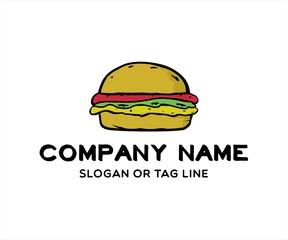 hot burger yummy logo
