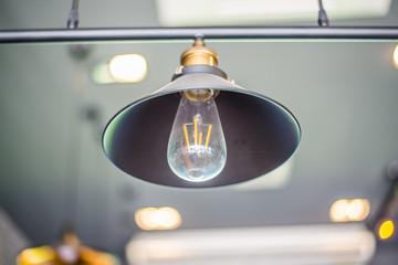 Beautiful light lamp glowing