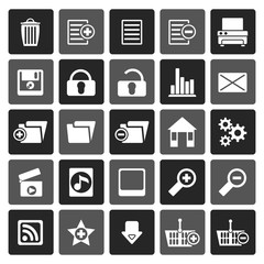 Flat 25 Detailed Internet Icons - Vector Icon Set