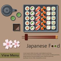 Japanese food. Vector Illustration