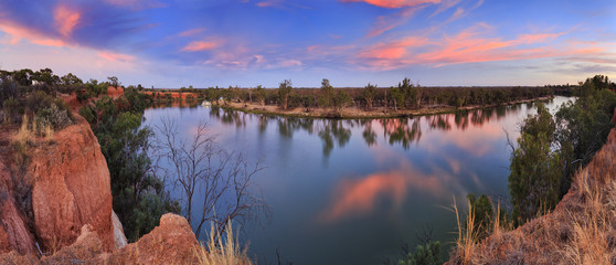 In de dag Rivier VIC Murray Red cliffs panorama