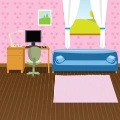 Cartoon interior background