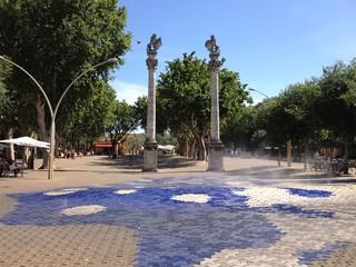 Alameda De Hercules in Sevilla, Andalusien, Spanien