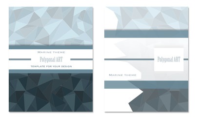 Template for your design with a maritime theme..