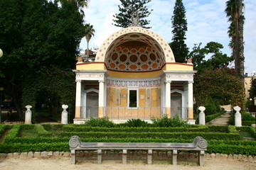 Pavillon, Botanischer Garten in Palermo, Sizilien, Italien