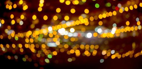 abstract circular natural bokeh background, city lights, panoram