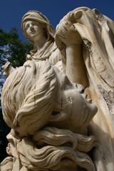 Skulptur, Botanischer Garten in Palermo, Sizilien, Italien