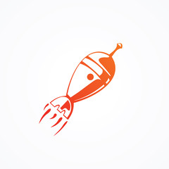 rocket icon vector illustration