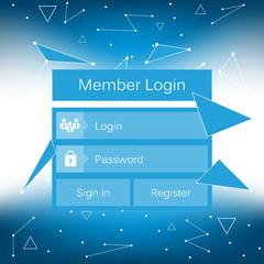 Mobile vector user ui kit form interface. For web page, site bar, art flat icon, device design theme, modern menu app, contact empty box, modern banner, digital gui, media player, widget, mockup set.