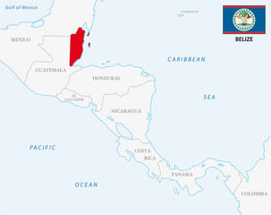 belize map with flag