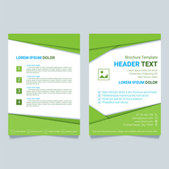 Creative brochure vector template in green color. Modern poster, flyer business template in a material design style. Vector illustration