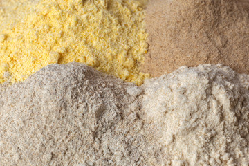 different flour bread
